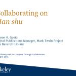Collaborating on Han shu (漢書)